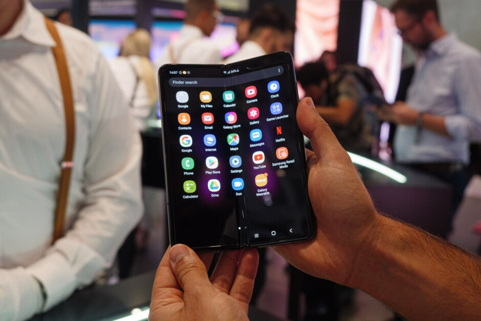 Hands-on picture showcasing the fixed Galaxy Fold in action - New report 'confirms' Samsung's foldable Galaxy Z Flip will not be as cheap as once rumored