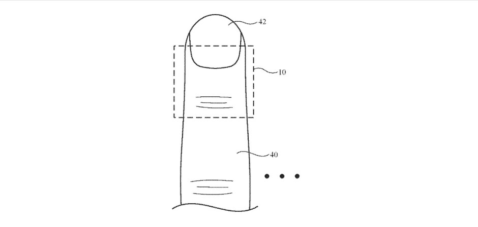 Illustration from Apple's patent application Computer Systems With Finger Devices - This could be how you'll move virtual objects on Apple Glasses