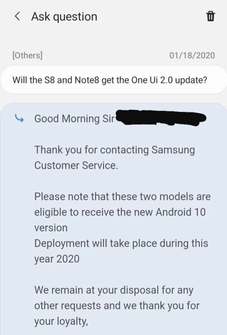 Samsung reps insist Galaxy S8 and Note 8 will receive Android 10 updates