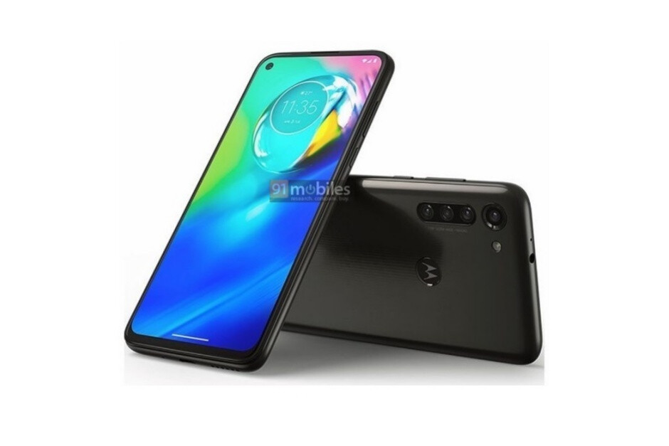 Leaked Moto G8 Power render in black - Big-battery Moto G8 Power and mystery Motorola phone with stylus get some newly leaked renders