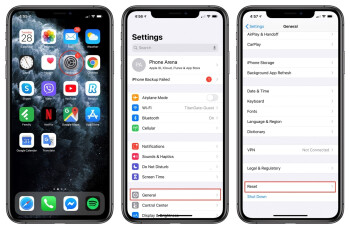 First open Settings, then find the General section and then scroll down to find the Reset field - How to factory reset an iPhone
