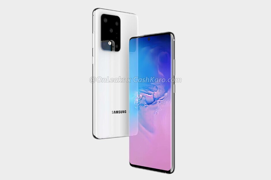 Render of the Samsung Galaxy S20 Ultra - Samsung teases new Galaxy S20 camera module and the Galaxy Z Flip in official video