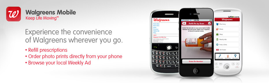 Download Walgreen's app for iOS devices, BlackBerry, and Android handsets - Order your medication refills from your phone with the new Walgreen's app