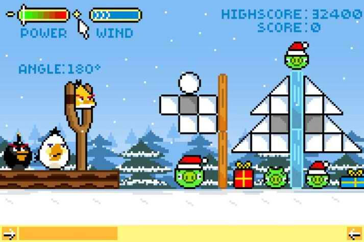 Mock screenshots provide a retro glimpse of Angry Birds in the 90s