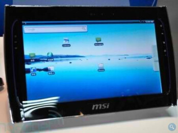 MSI's Android powered tablet.