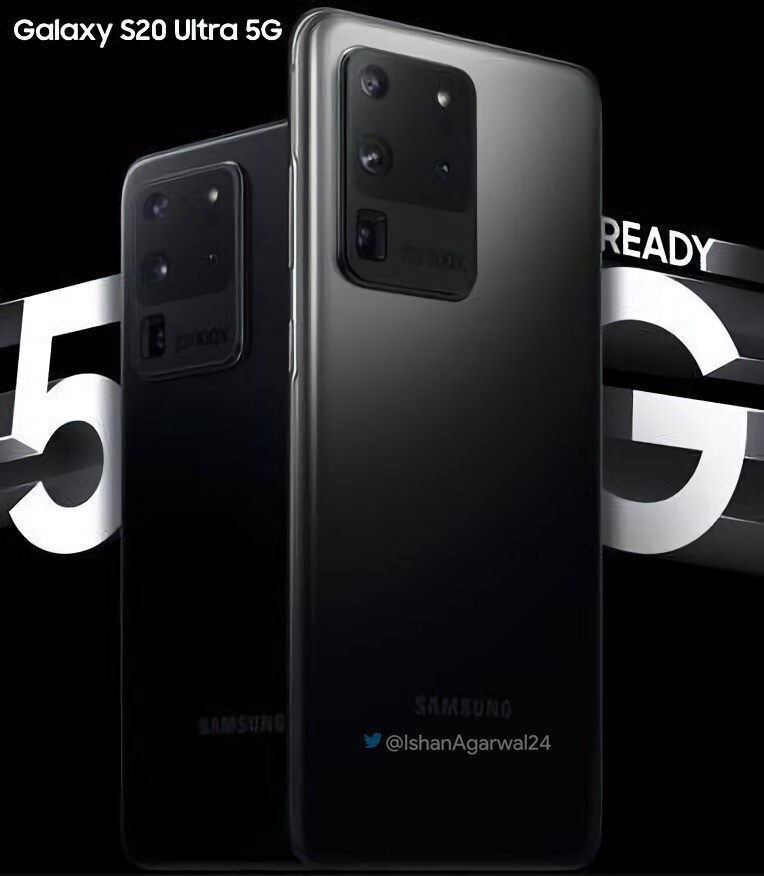 The first Galaxy S20 Ultra 5G promo poster finally flaunts the black version