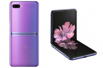 A press render of the Samsung Galaxy Z Flip in purple - Samsung Galaxy Z Flip appears on high-quality video days before unveiling
