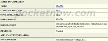 "Motorola patents the ""Stadia"" brand for a possible gaming and fitness device"