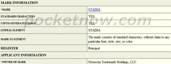 """Motorola patents the """"Stadia"""" brand for a possible gaming and fitness device"""
