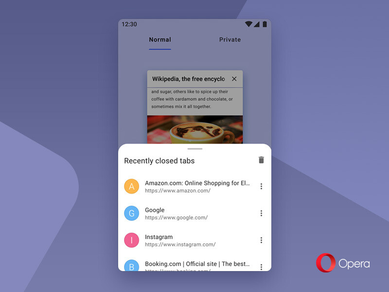 Recently closed tabs - Opera for Android gets its first major update in the new decade, here is what's new