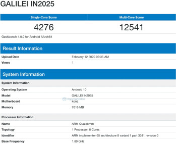 OnePlus 8 allegedly spotted on Geekbench under code name