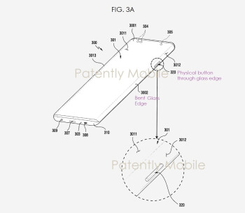 Samsung'un yeni patenti, fiziksel düğmelerin cam ekrandaki bir kesikten çıkmasına izin veren teknolojiyi kapsar - Samsung patenti, Galaxy Note 20 hattı için olası şelale ekranını ve projektörü ortaya koyuyor
