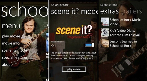 Paramount is releasing app-featured movies for WP7