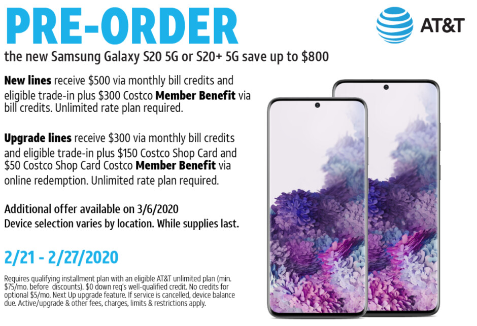 Samsung Galaxy S20 and Ultra 5G preorder deals at Verizon, Amazon, T-Mobile, Best Buy, or AT&T