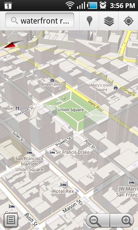 3D buildings at different levels of tilt and zoom - Google Maps 5.0 overview