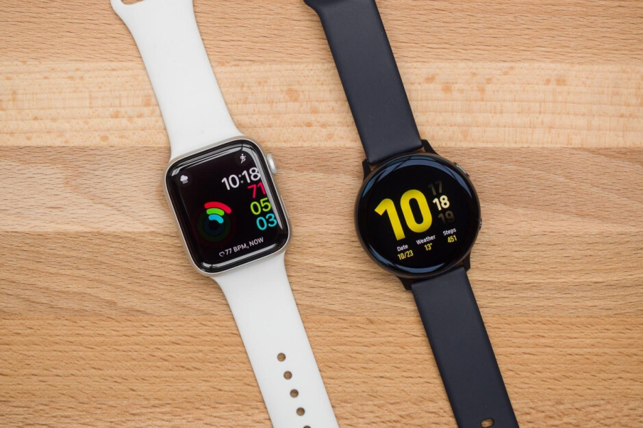 Apple Watch Series 5 (left), Galaxy Watch Active 2 (right) - Will Samsung ever get serious about challenging Apple in the smartwatch market?
