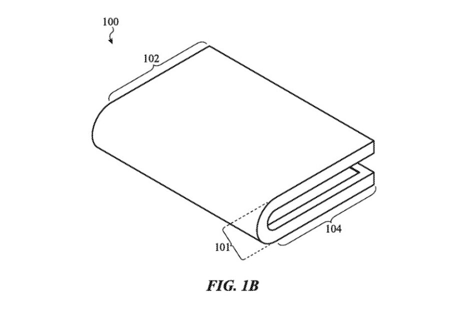 Image from Apple's patent shows an inward folding iPhone - Apple's latest patent indicates that a foldable iPhone could be upcoming