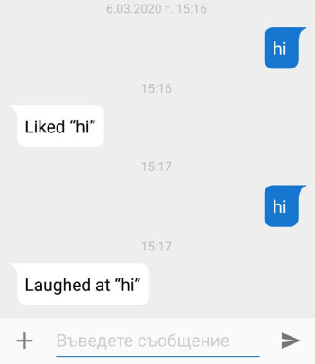 Current iMessages fallback text as seen on Android - Google Messages possibly getting reactions and fallback texts