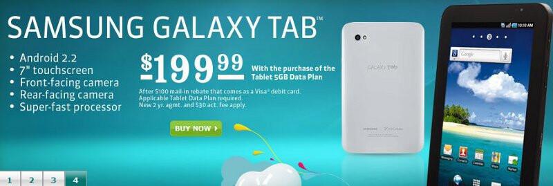 U.S. Cellular cuts the Samsung Galaxy Tab down to $200