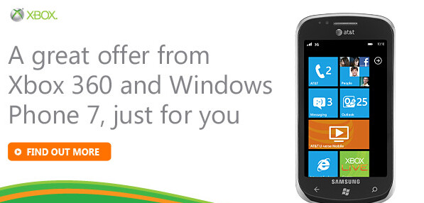 Buy a new Windows Phone 7 device and get one of four free Xbox games - Buy a new Windows Phone 7 handset and get 1 of 4 new Xbox games for free