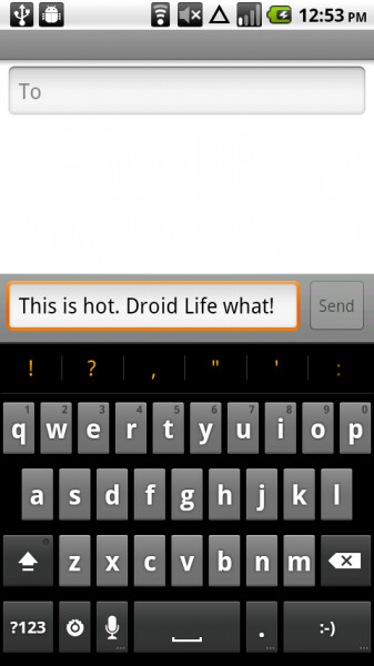 Thanks to some new short cuts, the keyboard for Android 2.3 is faster than the prior version