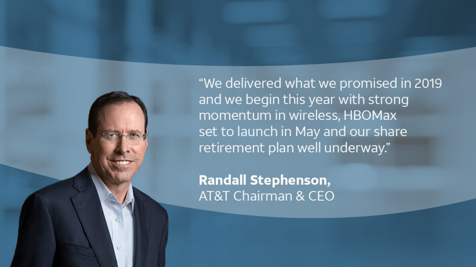 Stephenson's quote for 2019, Photo - AT&T - AT&T CEO Randall Stephenson gets executive pay of $32 million for 2019