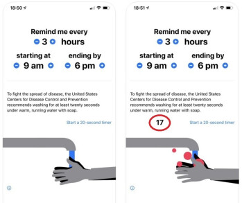 Wash Your Hands! reminds you when its time to scrub up and counts off the suggested 20 seconds - Apple posts precise rules related to coronavirus apps for the App Store