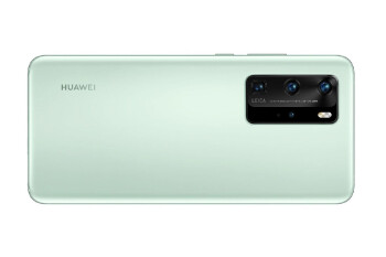 Leaked Huawei P40 Pro mint green render - Leaked Huawei P40 series marketing image shows off devices, official colors
