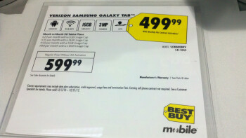 Best Buy discounts the Samsung Galaxy Tab to $499