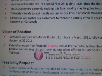 T-Mobile set to offer two MiFi routers within the first half of 2011