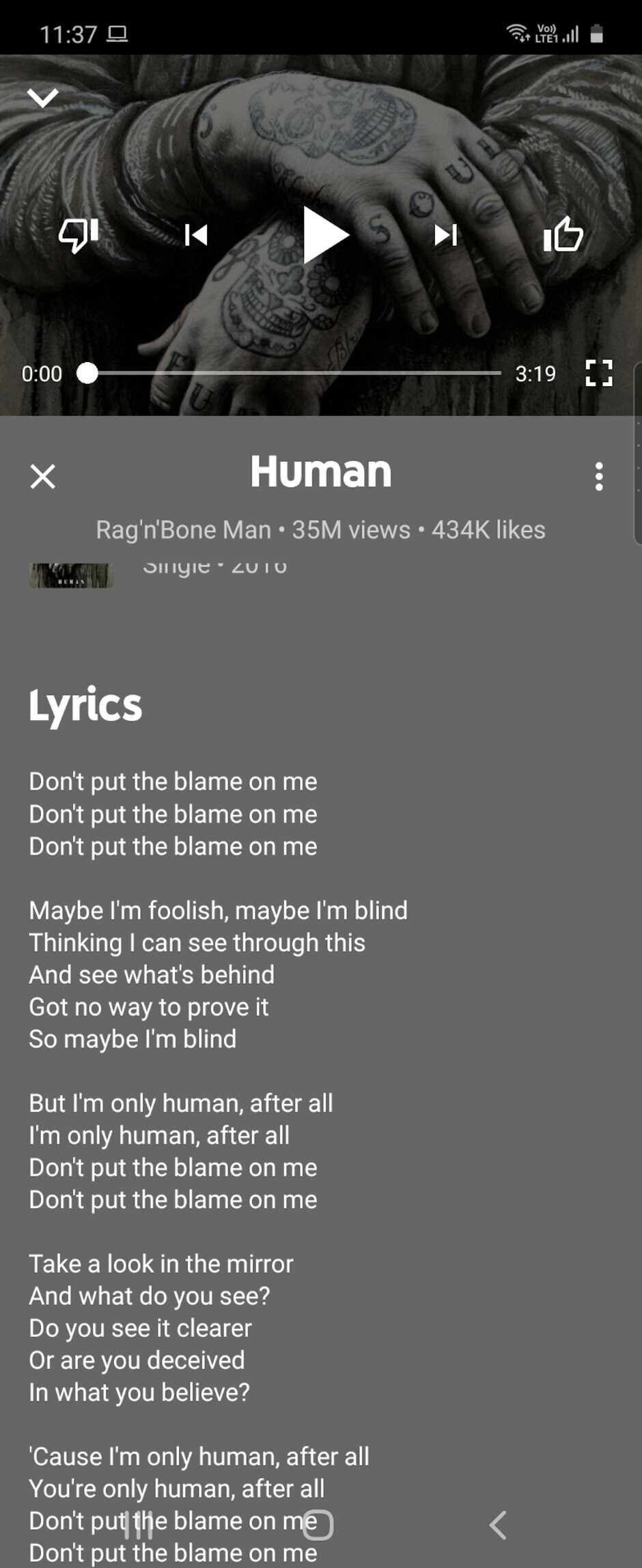 Lyrics on screen - Everyone can now sing along to YouTube Music with in-app lyrics, not just Android users