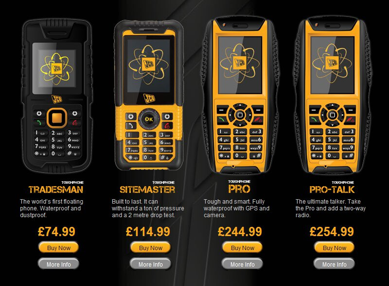 Jcb Toughphone Lineup Takes A Stand With Three Ruggedized