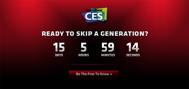 """When the clock hits zero, it will be time for Motorola's event at the January 5th CES - Motorola wants to know if you're ready to """"skip a generation"""" at the CES"""