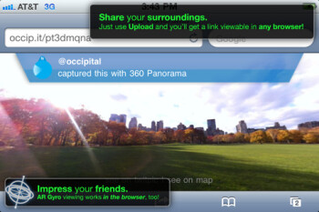360 panorama kick-starts gyro-enabled browsing in Safari