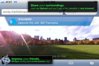 360 panorama kick-starts gyro-enabled browsing in Safari
