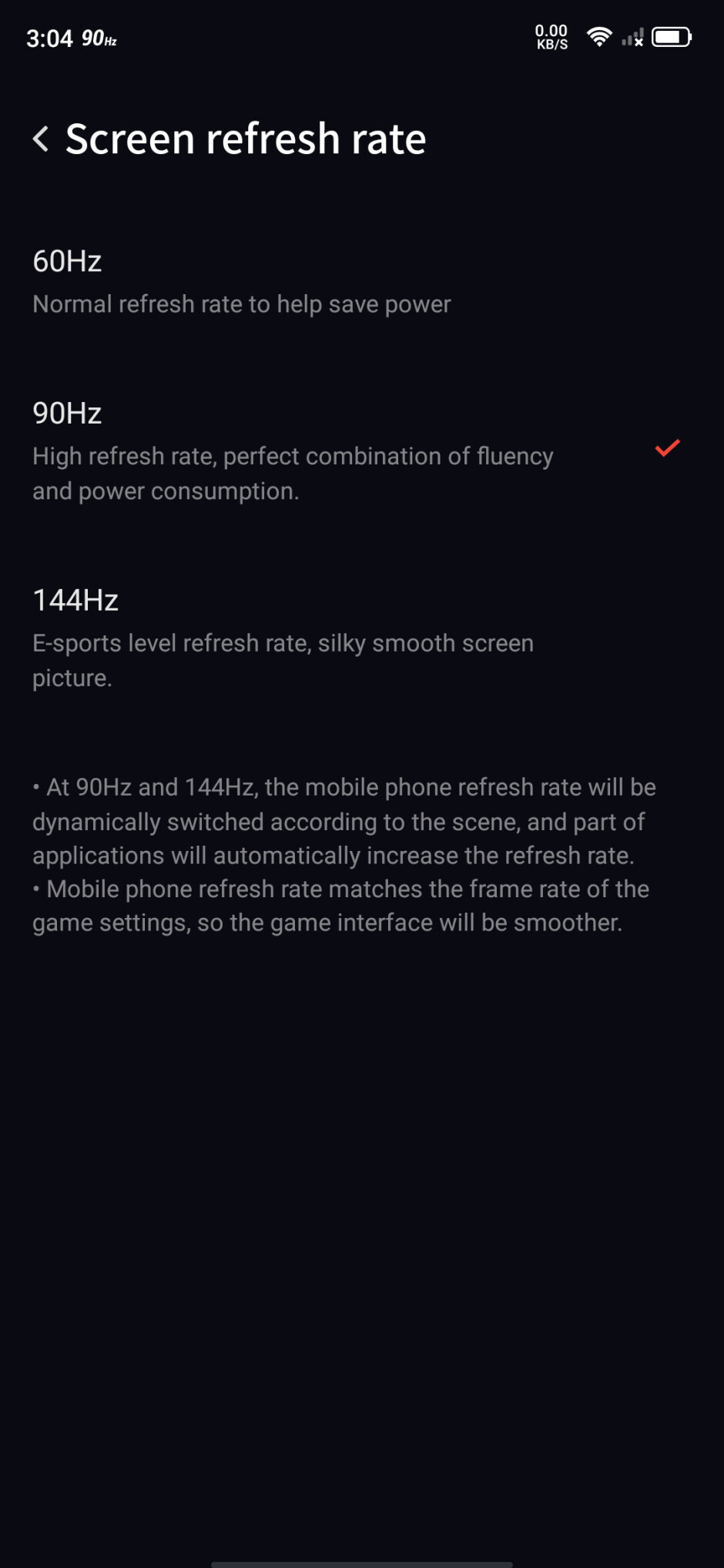 Nubia Red Magic 5G display settings - Nubia Red Magic 5G hands-on