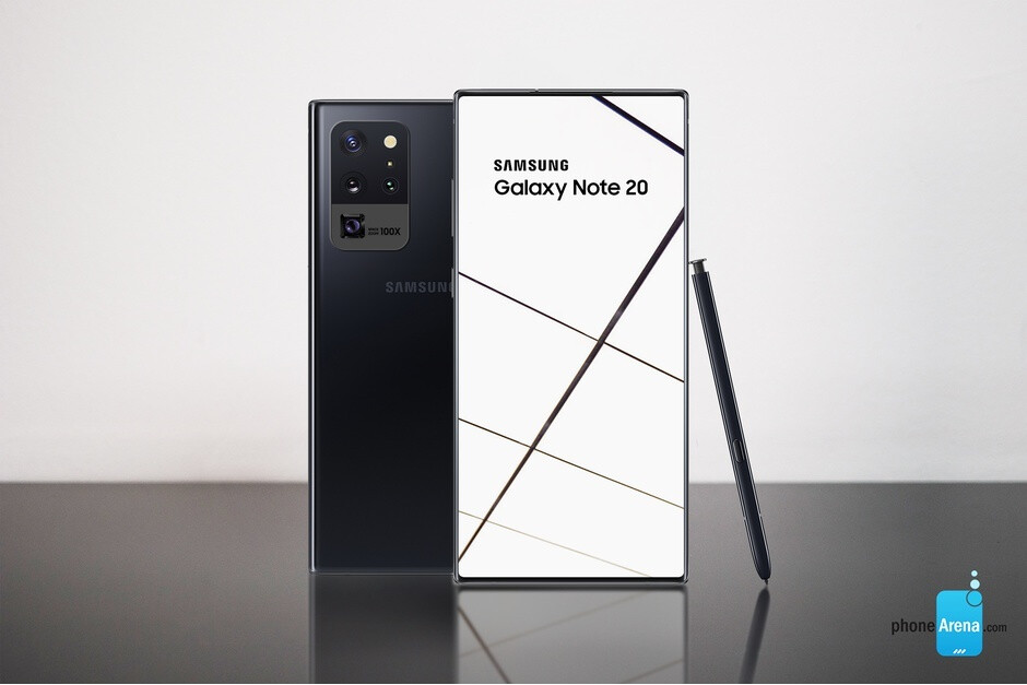 Galaxy Note 20 concept render - Possible Samsung Galaxy Note 20+ benchmark reveals a completely unexpected compromise