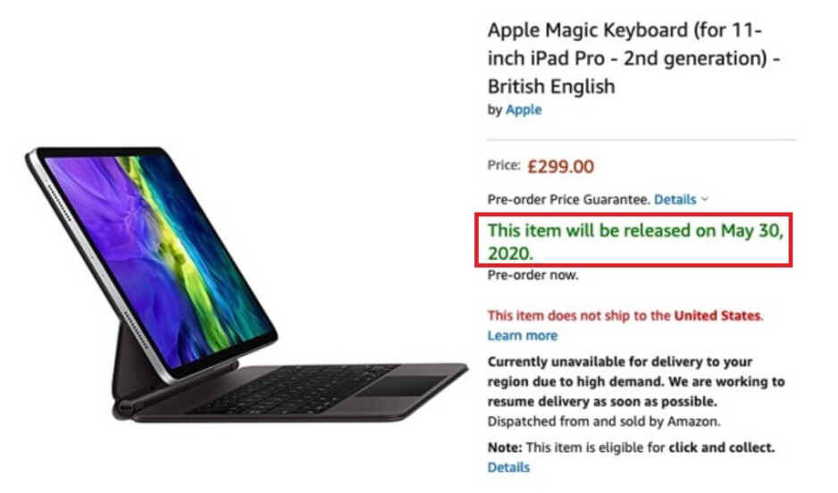 Amazon U.K. shows a release date of May 30th for the Magic Keyboard - Did Amazon goof and reveal the launch date for this eagerly awaited Apple accessory?
