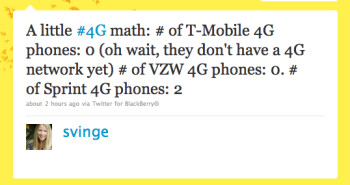 Based on the ITU's new definition of 4G, this tweet from a Sprint executive is totally incorrect