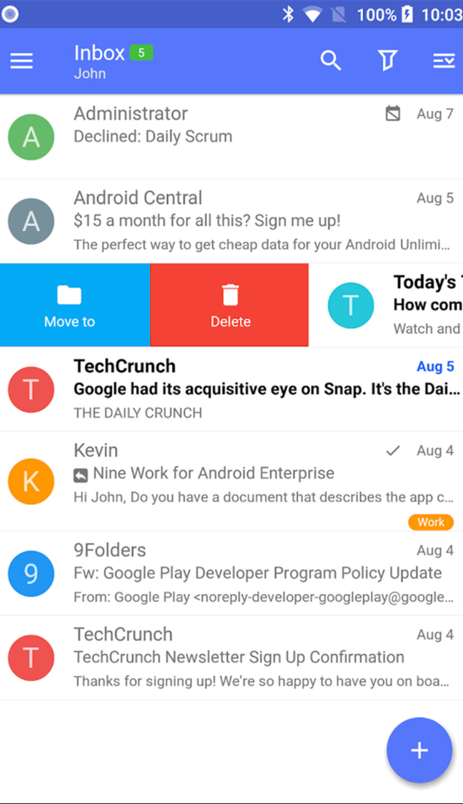 Nine - Best Android apps