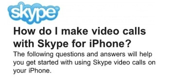2011 will see Skype video calling for the Apple iPhone 4 and 3GS over both 3G and Wi-Fi