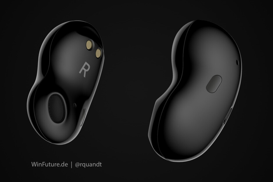 Samsung Galaxy Buds Bean render based on 3D data - Next-gen Galaxy Buds to offer active noise cancellation for less than $150