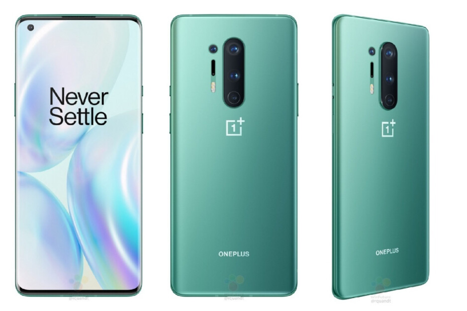 Leaked OnePlus 8 Pro render in Glacial Green variant - Teaser video confirms gorgeous OnePlus 8 and 8 Pro 5G color