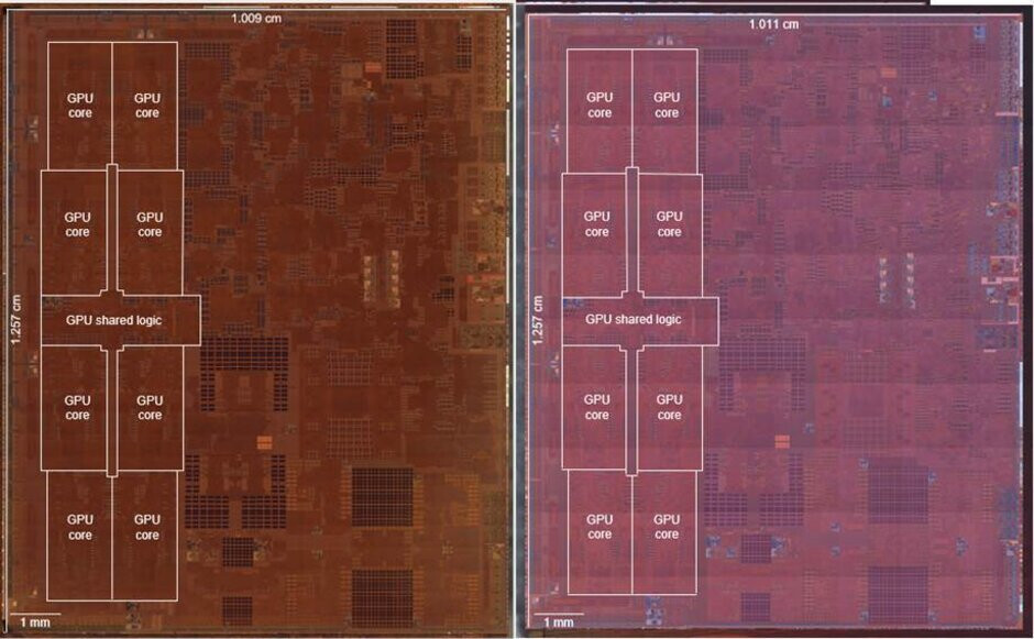 iagram from TechInsights show that the GPU on the A12X Bionic and A12Z Bionic are the same - Apple could use powerful 5nm A14X Bionic chipset for 5G iPad Pro in 2020-2021