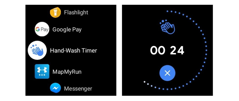 Image source - XDA Developers - Wear OS smartwatches will remind you to wash your hands