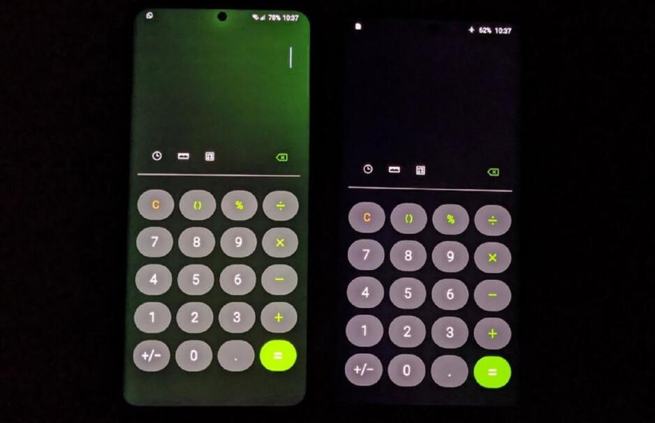 Galaxy S20 Ultra update brings a nasty green screen glow bug