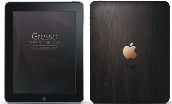 Gresso to launch an iPad made from a 200-year-old wood and 18k gold