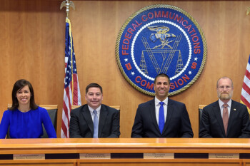 FCC Commissioner Jessica Rosenworcel (at far left) calls carrier disconnections unacceptable - Despite pledge, some carriers are disconnecting non-paying Americans