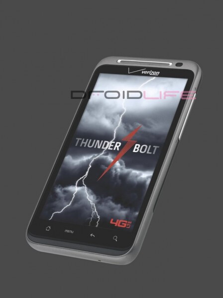 The HTC Thunderbolt will be the first 4G handset for Verizon - HTC Thunderbolt pictured in all its glory