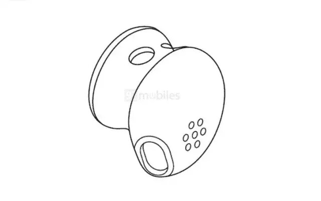 Google's patent submission shows a possible design for the third-gen Pixel Buds